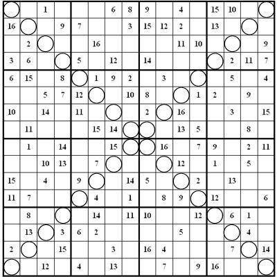 16 box sudoku